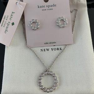 🆕Kate Spade Full Circle Mini Pendant Necklace set